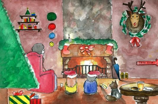A Christmas by the Fireplace by Synccantia