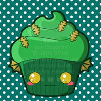 Swamp Thing Cupcake by pai-thagoras