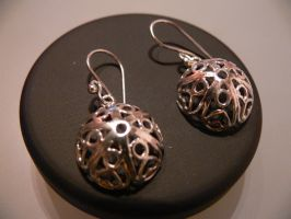 silver filigree earrings by irineja