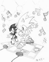 Sonic and Shadow DDR by songosai