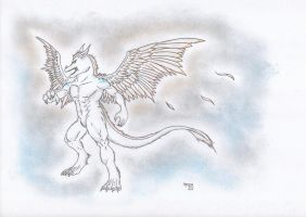 Furry angel dragon by Spere94