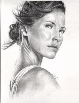 Evangeline Lilly drawing-LOST by TheKo88s