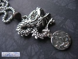 Fire and Blood House Targaryen Necklace by SpellsNSpooks