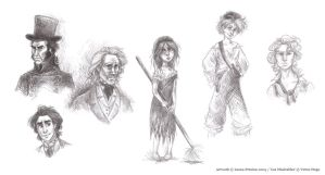 Les Miserables Sketches by Leopreston