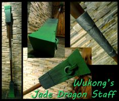 Wukong's Jade Dragon Staff by tearatone