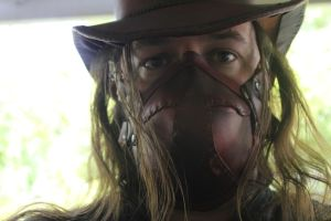 Leather Top Hat and Respirator Steampunk (WIP) by connerchristopher