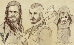 Vikings Sketch by BleedingProse