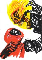 deadpool and ghostrider by suspension99
