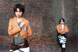 SNK -Levi and Eren 03 by cosplay33