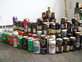 Beer Can Castle by Defibulator