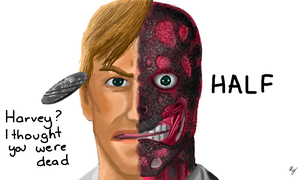 Harvey Two-Face by WeaponX-Art