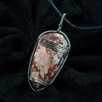 Sterling Silver and Brecciated Jasper by sylva