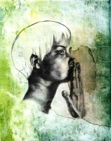 Speak No Evil Monoprint by Elsma