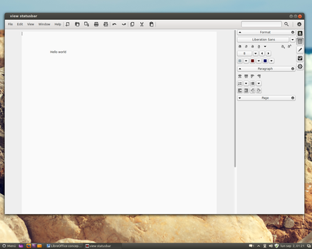 LibreOffice  concept  with    sidebar  . by MarianoGaudix