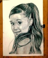 Ariana Grande pencil drawing:) by crystal021297