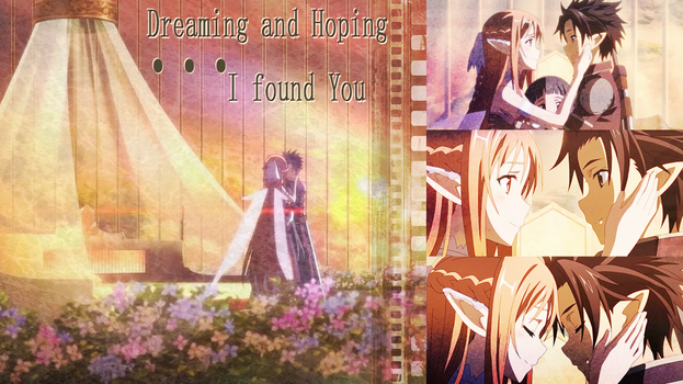 Sword Art Online Kirito X Asuna Wallpaper by Nekokan-L