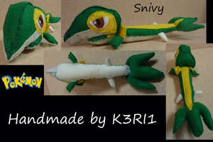 Snivy Plush by K3RI1
