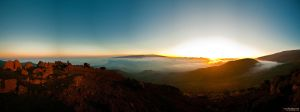 Mauna Kea Sunset by kz