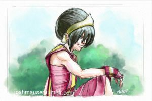 Toph - Fire Nation by joshmauser