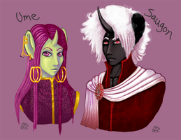 Ume and Saugon by Foxbride