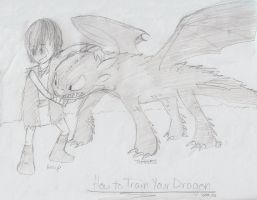 Hiccup and Toothless by sailor663