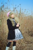 girl in reed by Godling-Studio