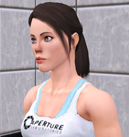 Chell in Sims3 (WIP2) by CamKitty2