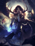 Goddess of the Sacred Forest by WojtekFus