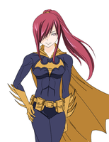 Erza as Batgirl by codzocker00