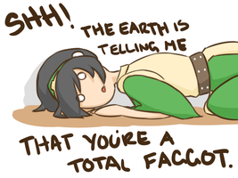 Toph's Message by jacyndaquil