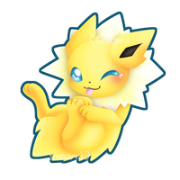 Jolteon v2 :rub my belly edition: by Clinkorz