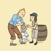 Tintin and chavo by willrios