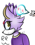 blaze the cat (. . . and silver) by 10RaeShyBunny12