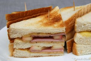 Apple with ham sandwich 1 by patchow