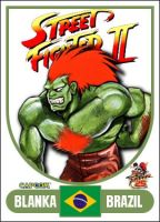 Blanka - Street Fighter 2 Retro Card by MrABBrown