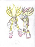 Sonic and Shadow by HellSpawnic