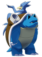 Pokeddex day 11: Golduck and Blastoise by Protocol00