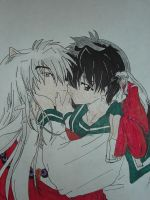 Kagome and Inuyasha In Love by keepdancing85