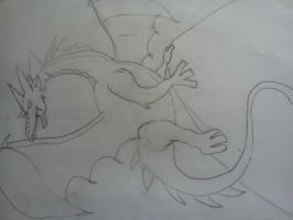 Dragon Drawing by me ^^ by Sparklexter