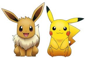 Pikachu and Eevee by ryanthescooterguy