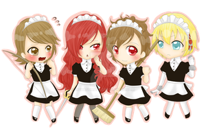 Commission: P3P Maids by MevAsumare