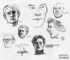 Sherlock Sketches by Girl-on-the-Moon