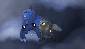 flying with luna by harmpink456
