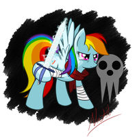 Rainbow Dash - Soul Eater Crossover by Natsu714