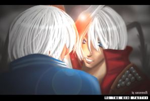 Dante X Vergil+To the end 01 by xanseviera