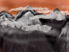 Some Mountains And Stuff by theginga