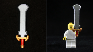 LEGO 3D Printed Painted Darknut Sword by mingles