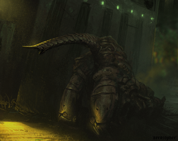 Dungeon Crawler -Spitpainting by Aerozopher
