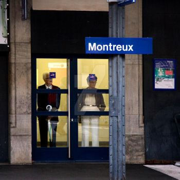 Montreux Train Station Switzer by BecLee