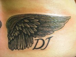 Wings with sons initials 2 by Shipht